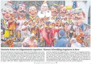 Meenzer Schwellköpp begeistern in Bern