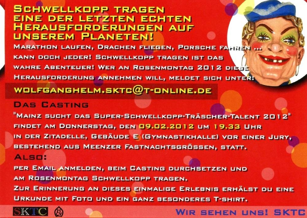 Mainz sucht das Super-Schwellkopp-Träscher-Talent 2012! (2/2)
