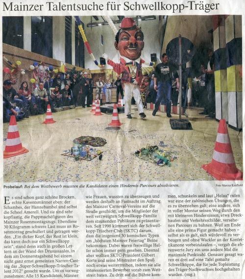 Frankfurter Allgemeine Zeitung 11.02.2012