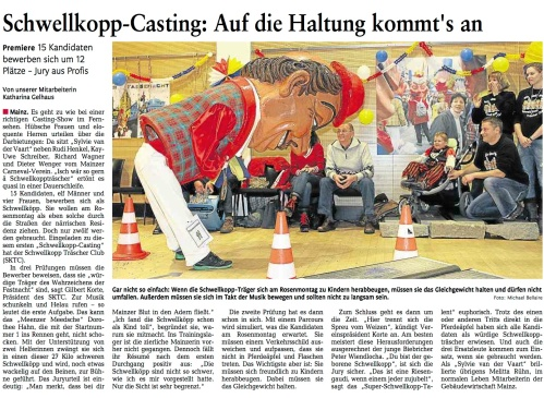 Mainzer Rheinzeitung 11.02.2012